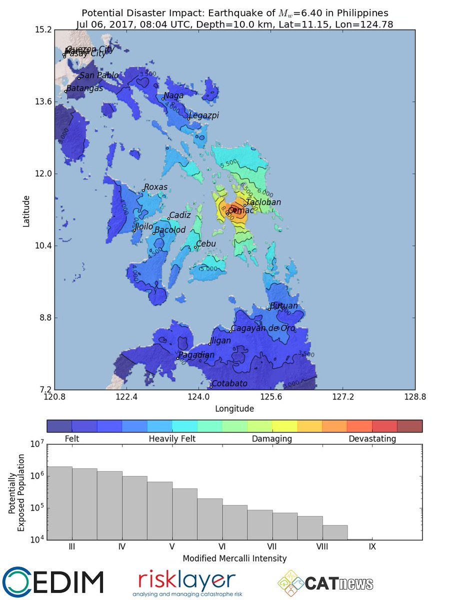Tacloban Philippines Map.Catnews On Twitter Very Strong Earthquake Near Tacloban