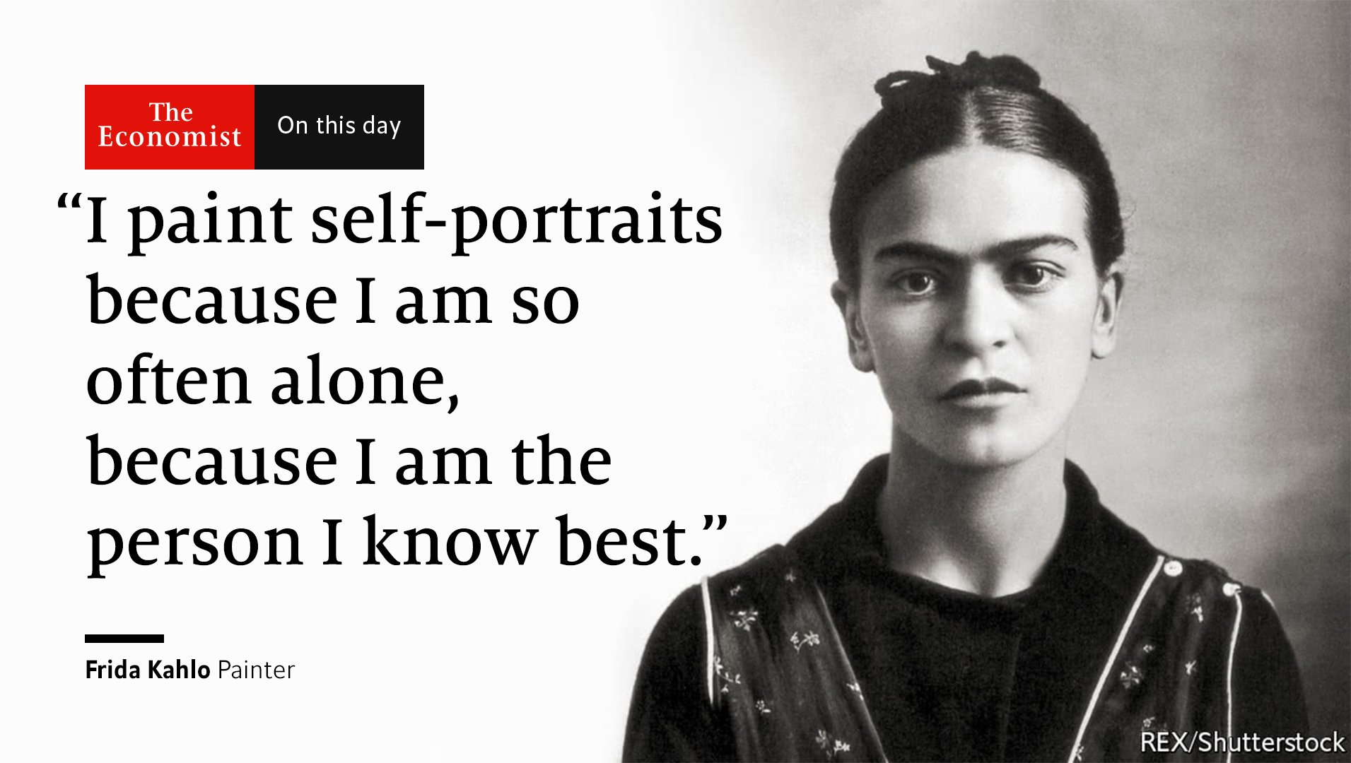 An artist who mostly depicts herself and her many traumas, Frida Kahlo was born #OnThisDay 1907 https://t.co/uCf7OYBxWK https://t.co/MHBO0qC2al