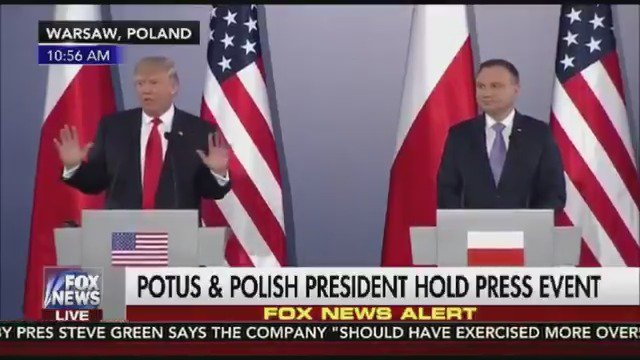 Today's Feel Good Story   #PresidentTrump Slams Obama   He Knew About #Russia And Did NOTHING About It #Poland https://t.co/bUEVzu9iol