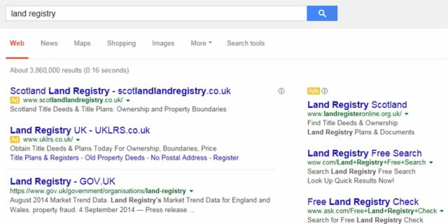 free governmental property history search