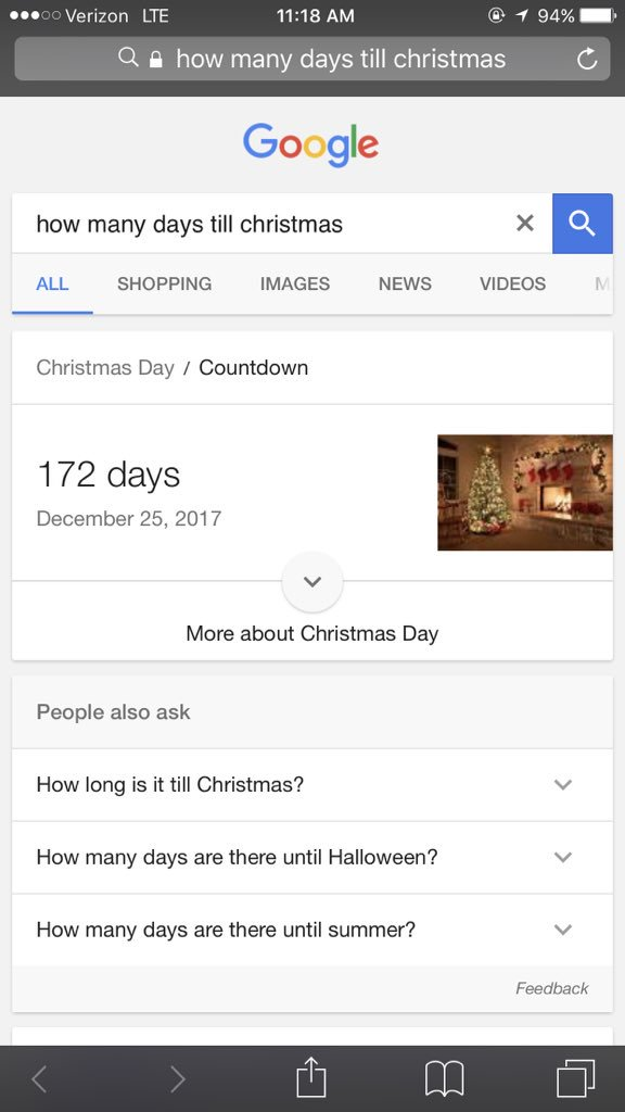 How Many Days Till Christmas Google.Your Christmas Countdown On Twitter 169 Days Until