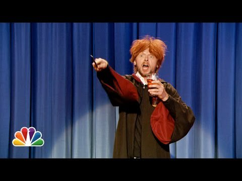 Drunk Ron Weasley Sings Happy Birthday To Harry Potter (Late Night with Jimmy Fallon)