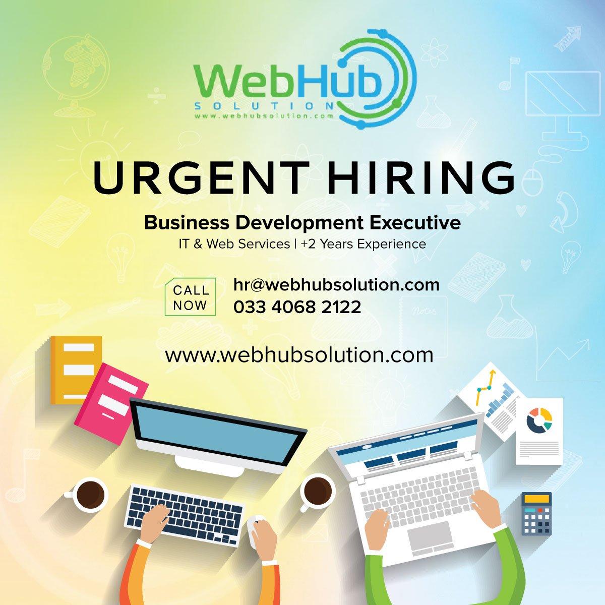 web hub solution on twitter webhubsolution hiring business development executive online bidder industry it software