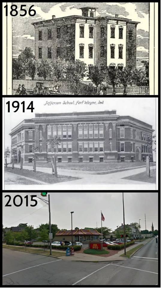 Jefferson school 1856 1914 location in 2015
