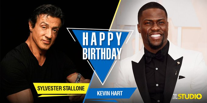 Zee Studio wishes Kevin Hart and Sylvester Stallone a very happy birthday! Send in your wishes!