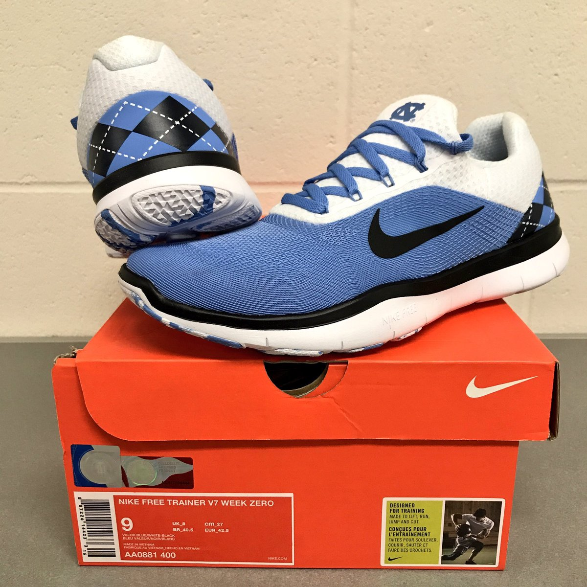 cc01d2321d650 ... 5.0 shoes 6dc10 271d7  cheap unc wrestling on twitter whos excited to  get their new pair of nike custom unc