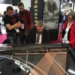 #ThrowbackThursday to April 2016. The Phoenix Carbiano was exhibited at the @musikmesse in Frankfurt as the world's only #carbonfiber piano.