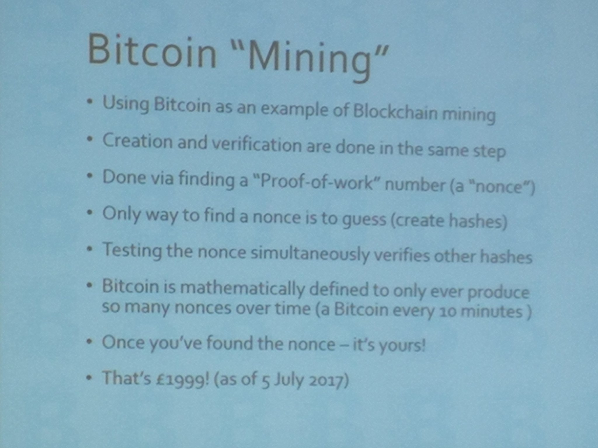 To create a #bitcoin you have to verify everyone else's bitcoins - done in same step #blockchain #netikx86 https://t.co/6gMlNFzfE5