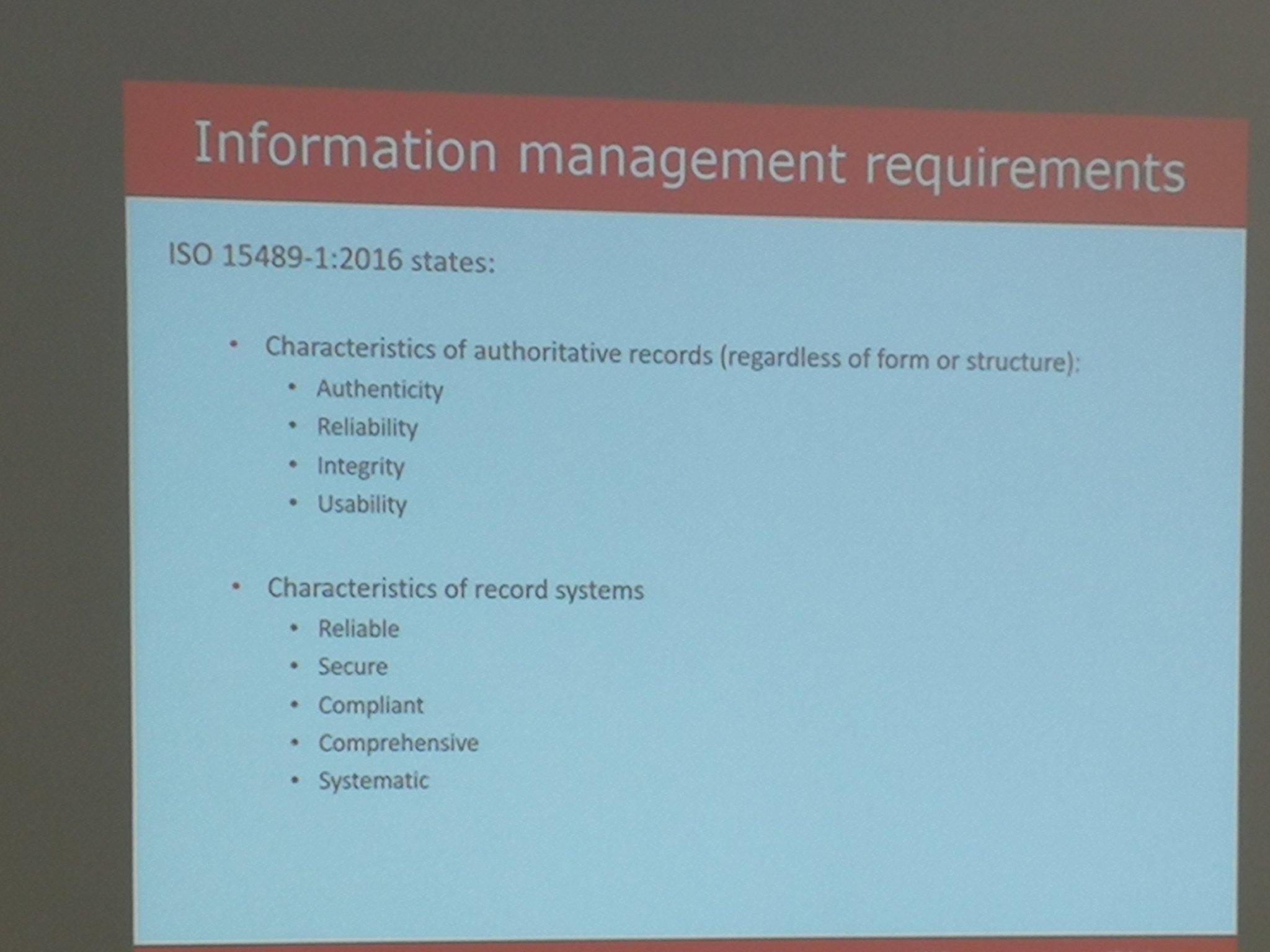 Can #blockchain meet these IM requirements? asks @NoeleenSchenk #netikx86 https://t.co/0OaDa47uMg