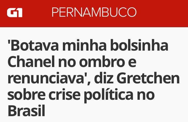Viva Gretchen! Melhor opinião sobre a crise politica!