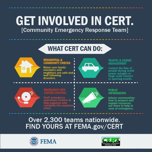 Find #CERT programs near you & get involved in your community's emergency response efforts: https://t.co/s4HmBiSLkA https://t.co/KQCaM76j4E