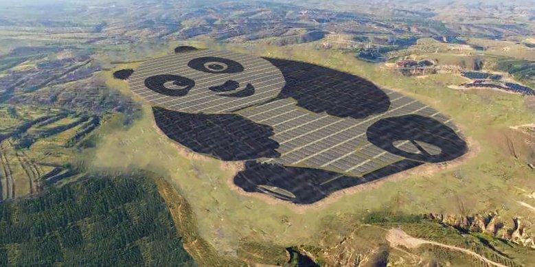 China just built a 250-acre solar farm shaped like a giant panda https://t.co/K3sYf7e7vL