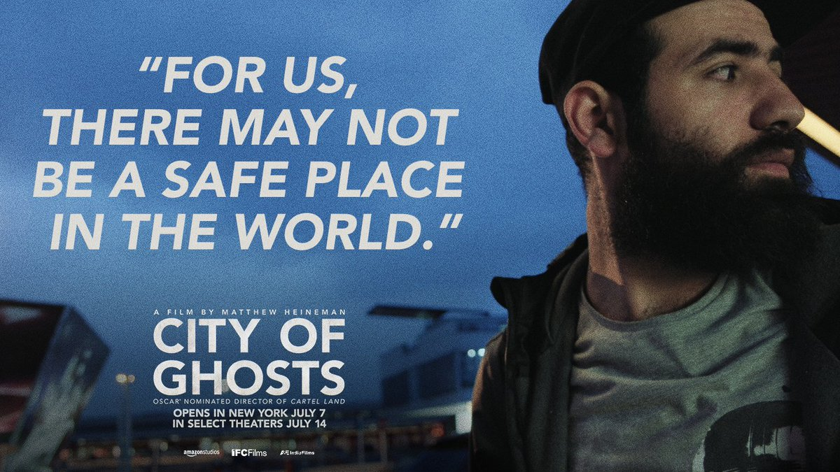 See the brave men & women of @Raqqa_SL oppose one of the greatest evils in #CityofGhosts, opening TOMORROW in NYC: http://tickets.cityofghosts.com
