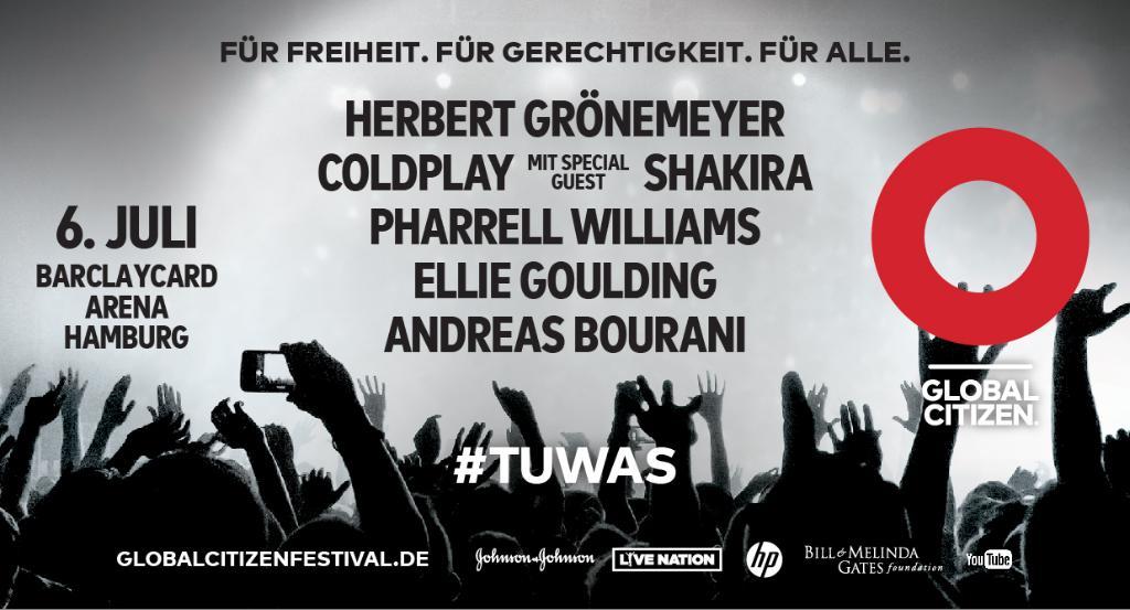 Zusammen erreichen wir Freiheit und Gerechtigkeit. Seht euch jetzt den Livestream zum #GlobalCitizen Konzert. #TUWAS https://t.co/GnAM4ERQKy https://t.co/VZPjLo5AT2