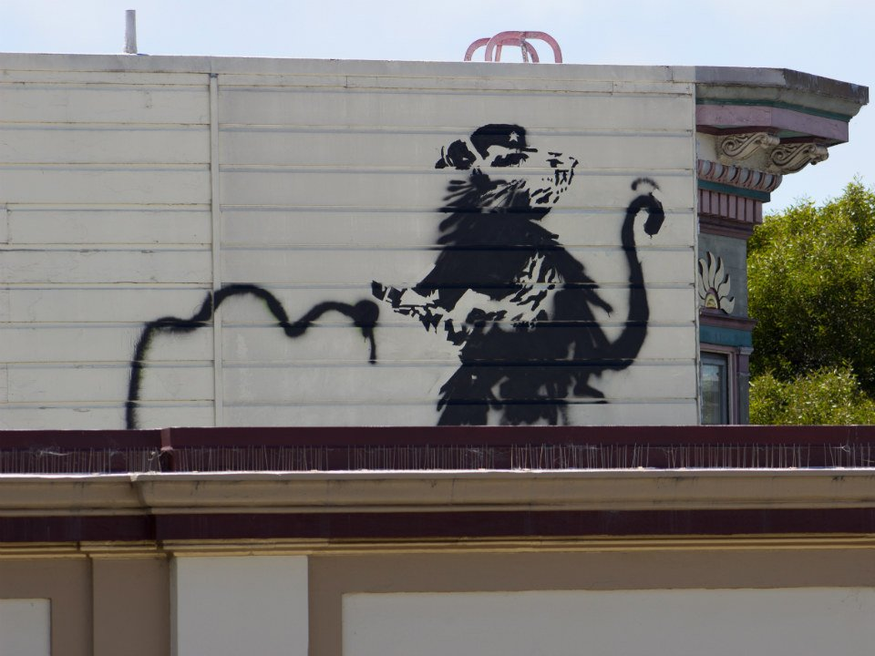 The truth about the #banksy spotted in the Upper Haight yesterday. #SF #SanFrancisco https://t.co/H8ecVXr6ve