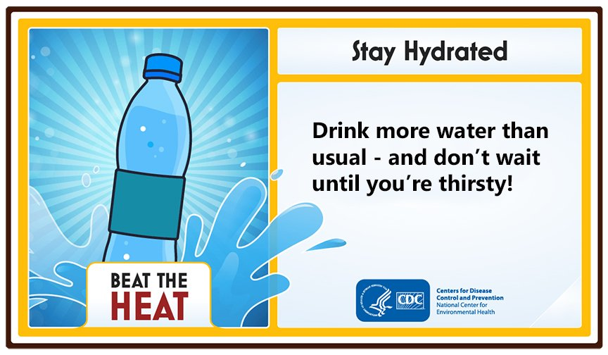 """CDC Emergency on Twitter: """"Extreme #heat can be deadly ..."""