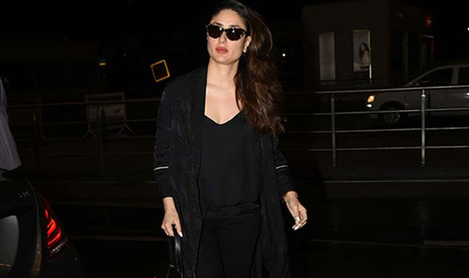 Photos - Kareena spotted at the airport, heading to Singapore! https://t.co/iHVoAx97Oo
