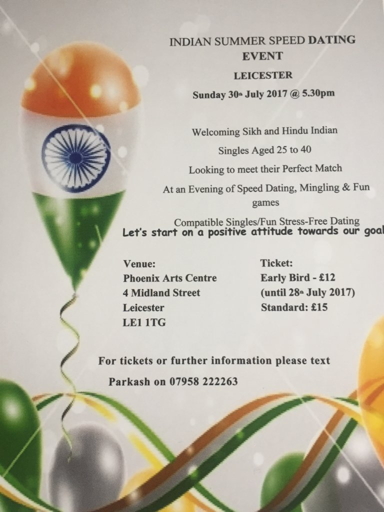 Speed ​​Dating Leicester hindu