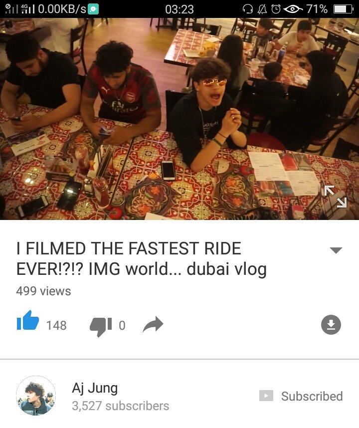 Watch,comment,like,subscribe #DubaiVlog - IMG World with @HarrisJOfficial  Aj Jung's YouTube channel : https://youtu.be/bLrhFe8HYZspic.twitter.com/YdhWjNAk78