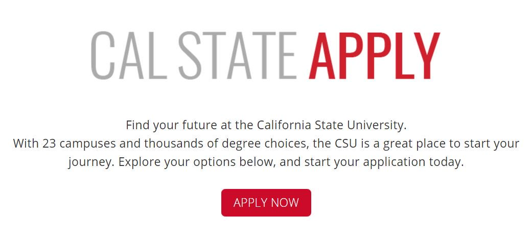 There's now one single application for all 23 CSU campuses. https://t.co/WmqiLR8TbG https://t.co/GuvRS7ClCQ
