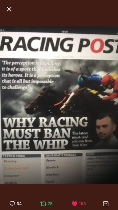 Here we go again. Thought the @RacingPost was supposed to be helping us out not stirring up s...t https://t.co/tOaqxXqdFv