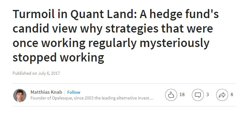 Turmoil in Quant Land, from anonymous : Daily Speculations