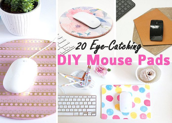 20 Eye Catching DIY Mouse Pads