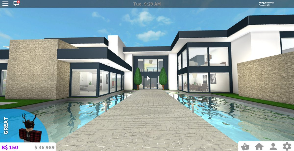Everything bloxburg on twitter one of the best modern for Extremely modern homes