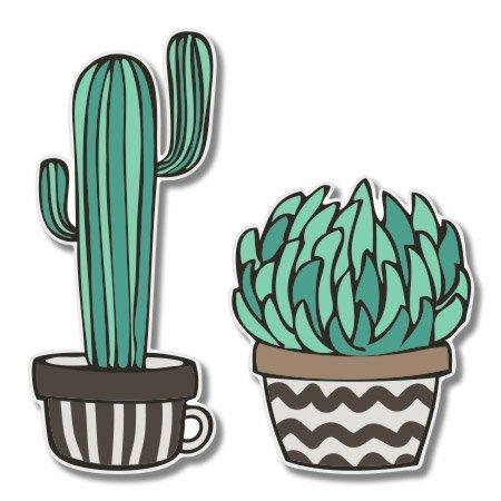 About Cacti Set Cute Trendy Vinyl Sticker