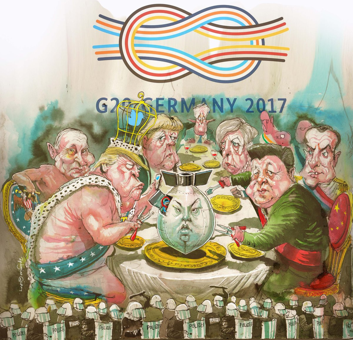 Dodgy Dinner guests at G20