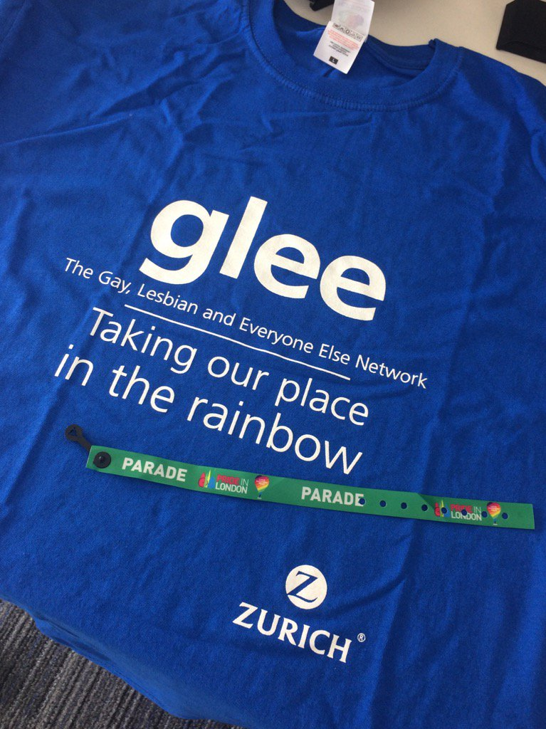 RT @ZurichInsUK: The @GLEE_LGBT team all ready for #LondonPride #LoveHappensHere - give them a wave if you see them! https://t.co/R6SJ68htP4