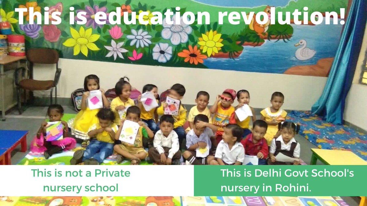 शिक्षा क्रांति किसे कहते हैं, रोहिणी के सरकारी स्कूल की नर्सरी कक्षा का यह कमरा बयान कर रहा है !  शिक्षित राष्ट्र, समर्थ राष्ट्र !