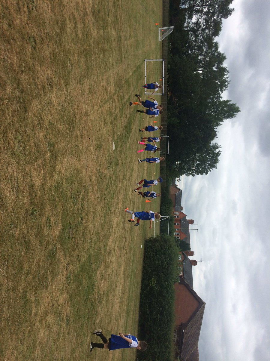 Key Stage 1 warming up for football competition #keystage1 #sport #football #ellesmere