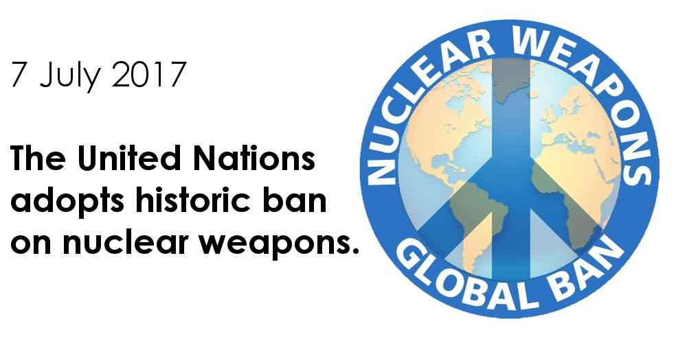 Amazing news! The outcome of decades of campaigning. Thank you to you all. #NuclearBan https://t.co/RJ6hnMLZvT