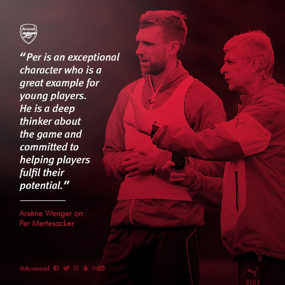 Per @Mertesacker will be our new academy manager in a year's time - and here's why