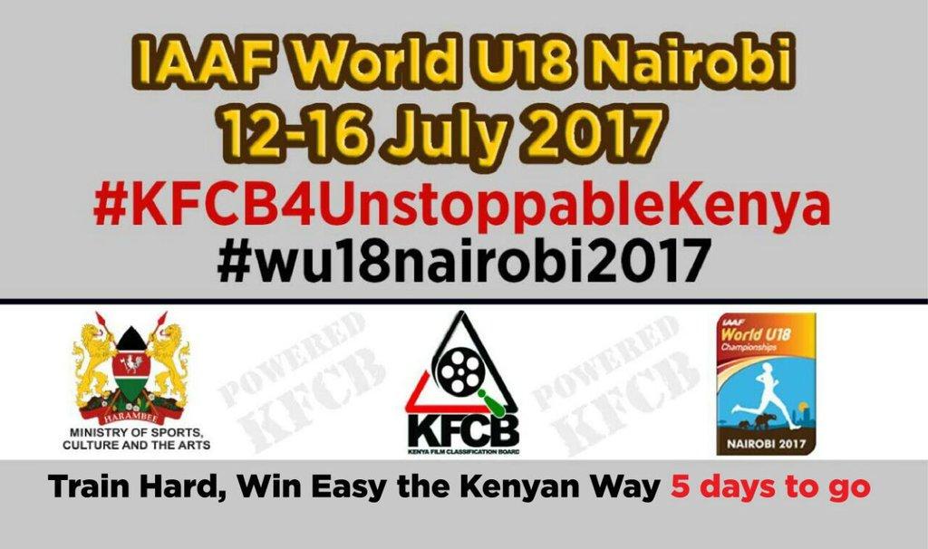 #KFCB4UnstoppableKenya Happenning in 5 days to go https://t.co/5fyKyH6LWT