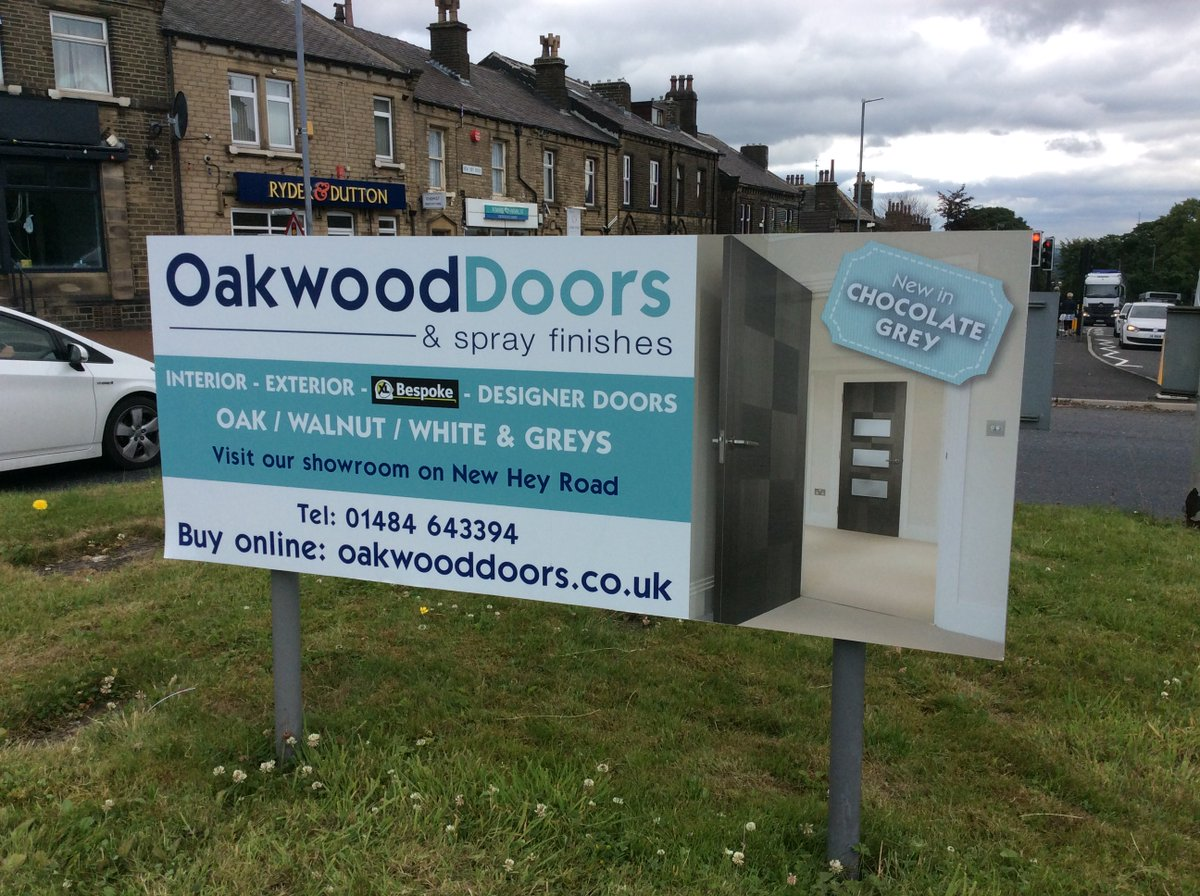 Internal doors external doors and spray finishes from oakwood doors - Check Out Our New Roundabout Signs Come Visit Us At Hd3 4dd New Hey Road Call Our Sales Team On 01484 643394pic Twitter Com Xzdeexuuh7