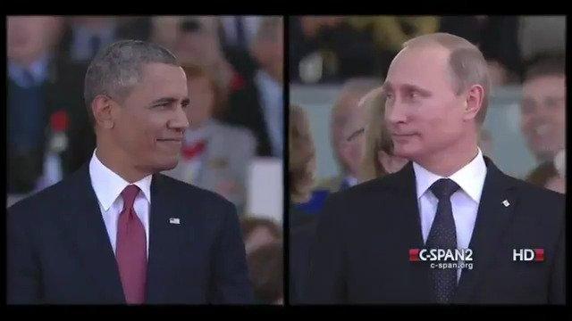 #FlashbackFriday (6/6/14) President @BarackObama & Vladimir Putin at #DDay Ceremony https://t.co/pbq2MfEKLZ