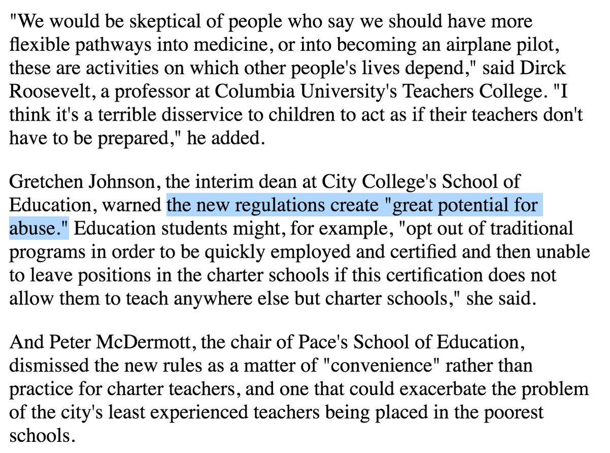 Nysut On Twitter Charters Move Closer To New Teacher Certification