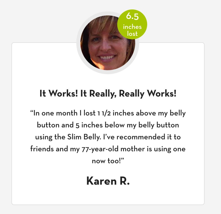 It Really Really Works - Just check out our success stories:   #slimbelly