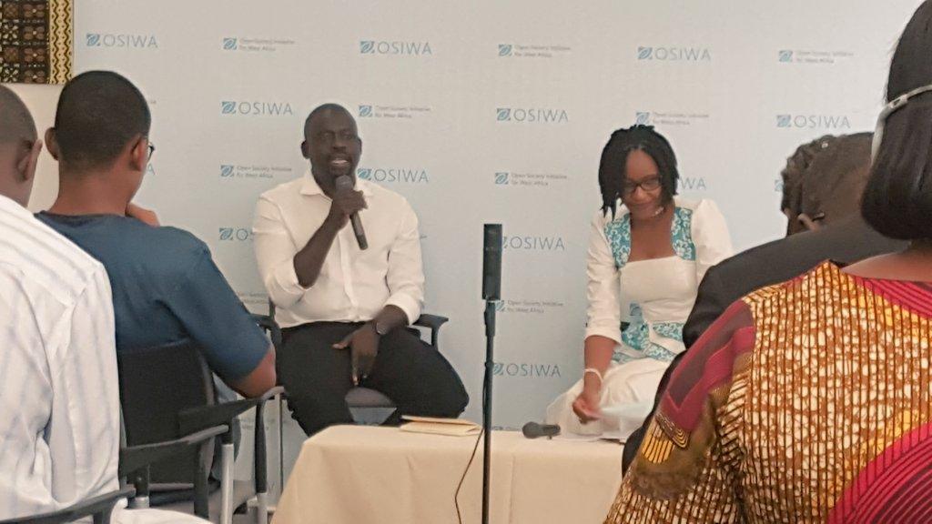 A @OSIWA1 avec @FelwineSarr qui nous parle de sa vision et de la raison d'être de sa dernière oeuvre sur l'Afrique, Afrotopia. https://t.co/NemlpF8oda