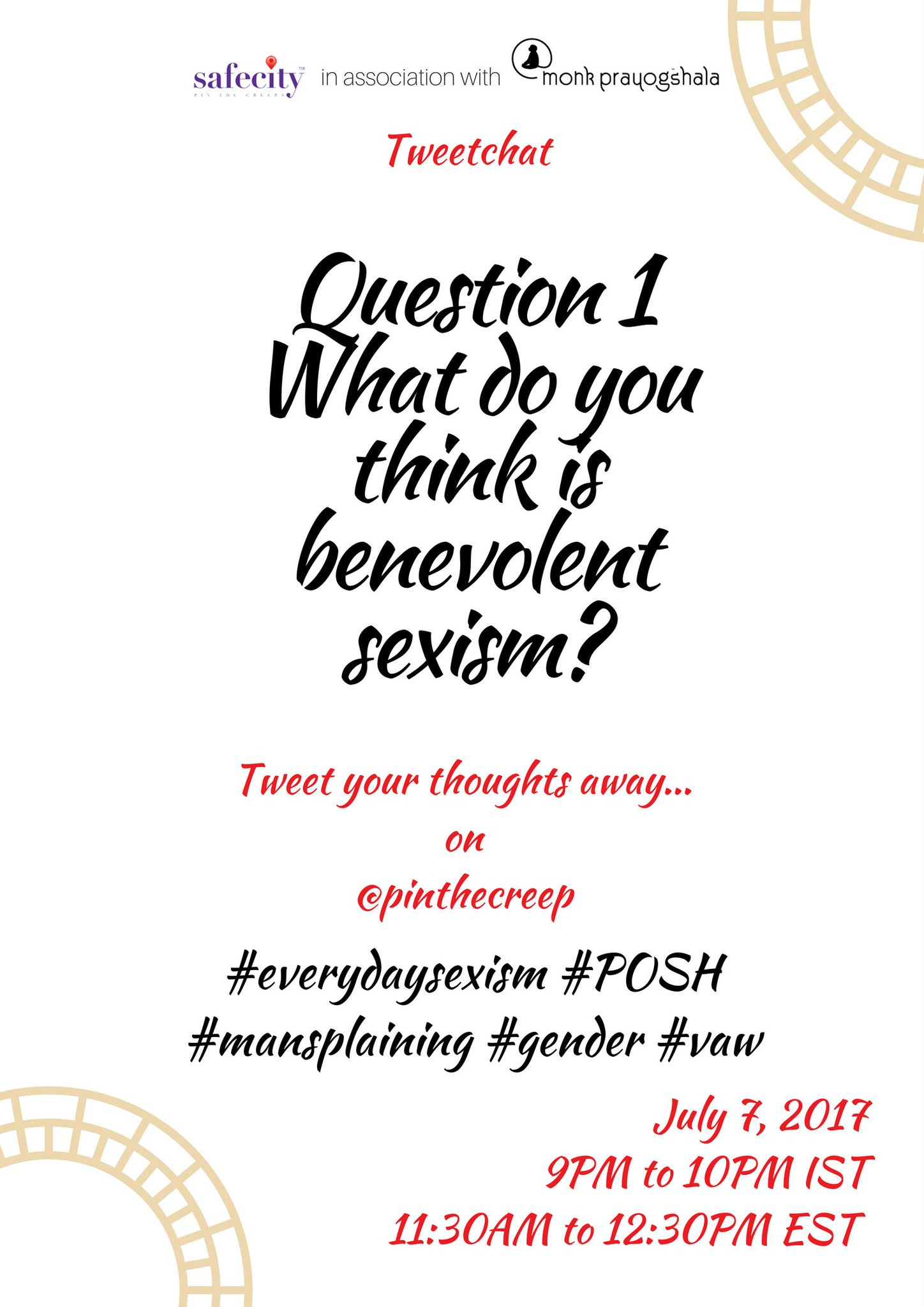We start off the tweet chat with Q1 here #benevolentsexism https://t.co/mTMCUhyopb