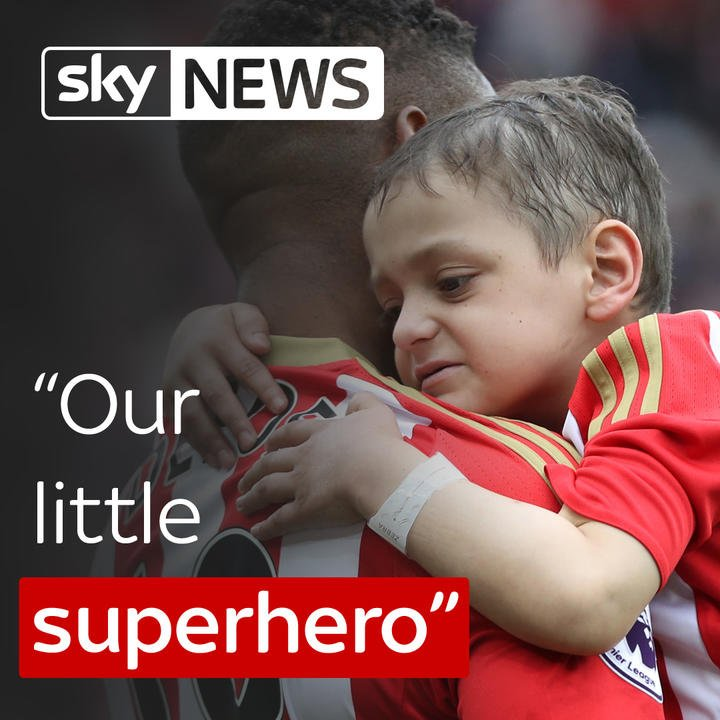 Six-year-old Bradley Lowery never let terminal cancer get in the way of his love of football