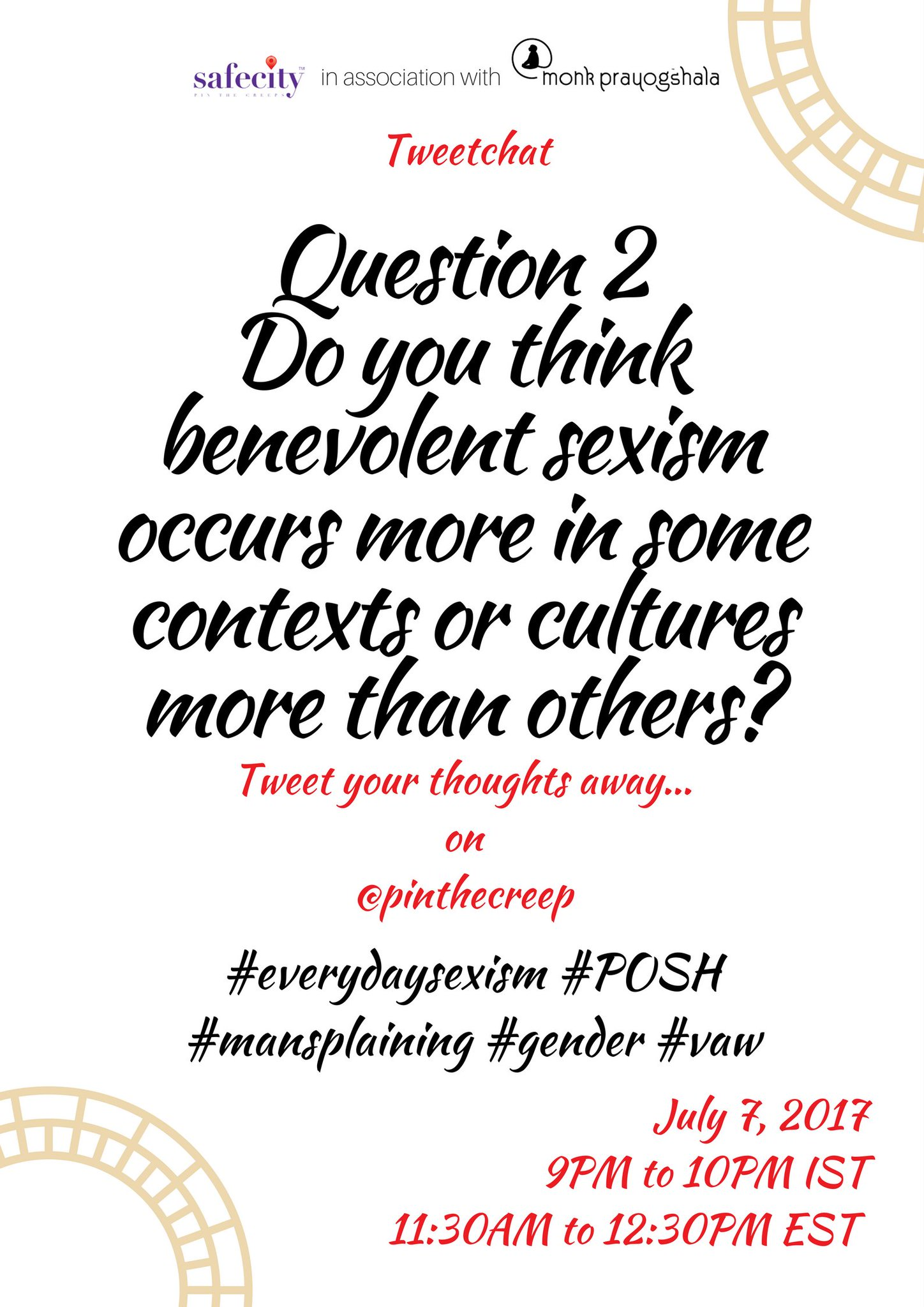We've got a conversation going! We're moving things on with Q2  #everydaysexism #VAW #POSH #gender https://t.co/HNYpmdXQfR