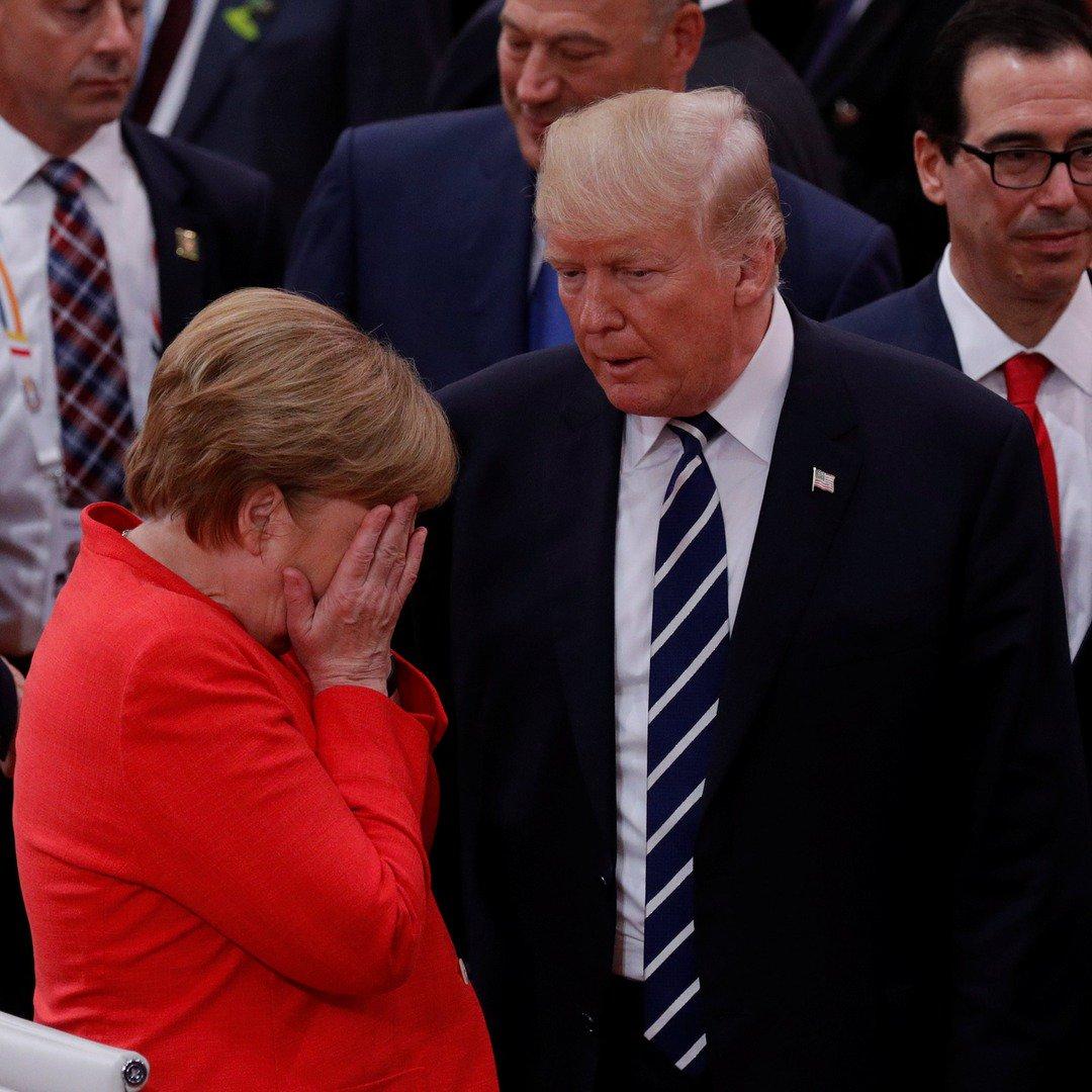 Tramp Merkeli hədələyir