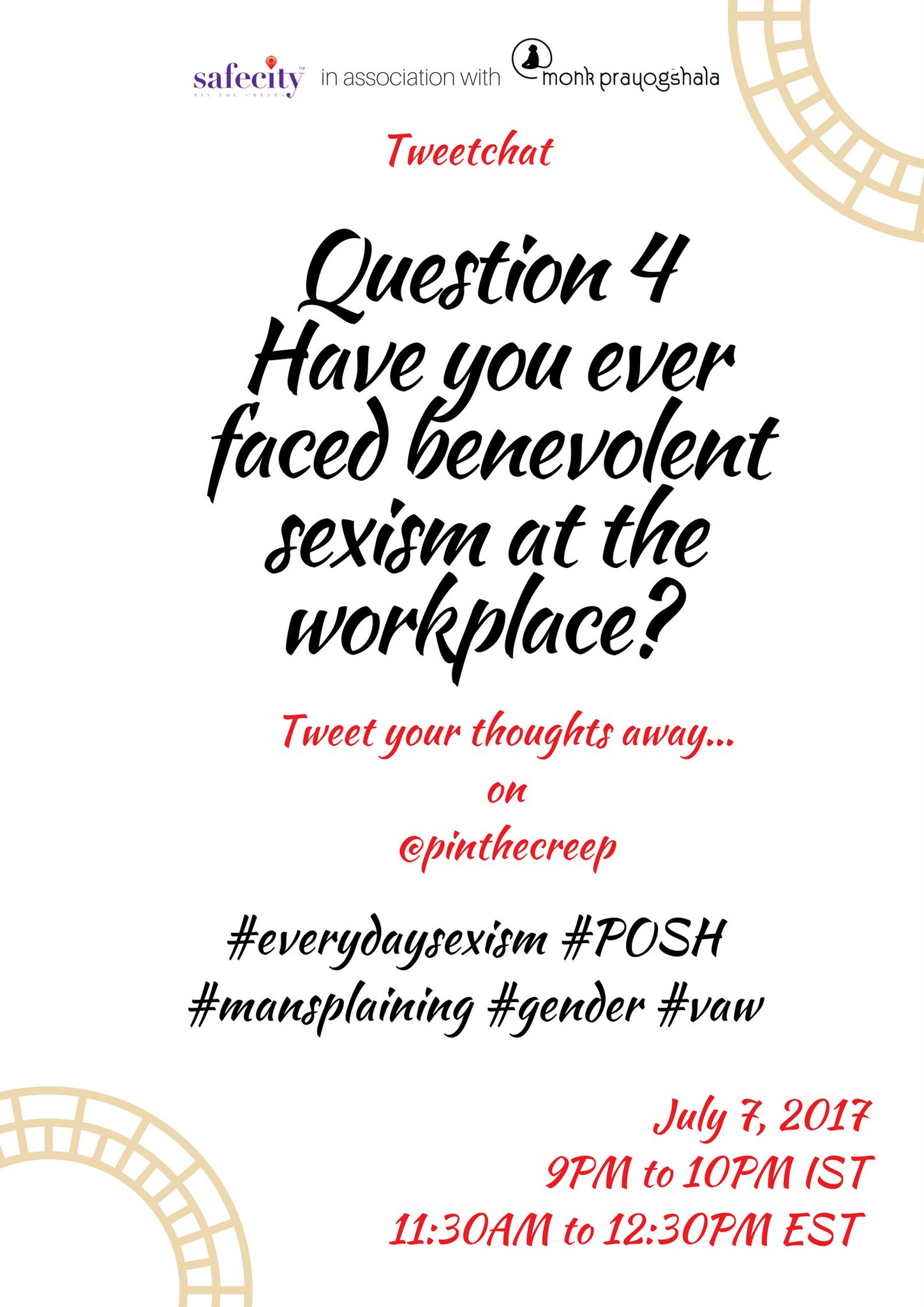 Continuing from our week's theme on #workplace sexual harassment, here is Q4: #everydaysexism #VAW https://t.co/VZrAX8R84t