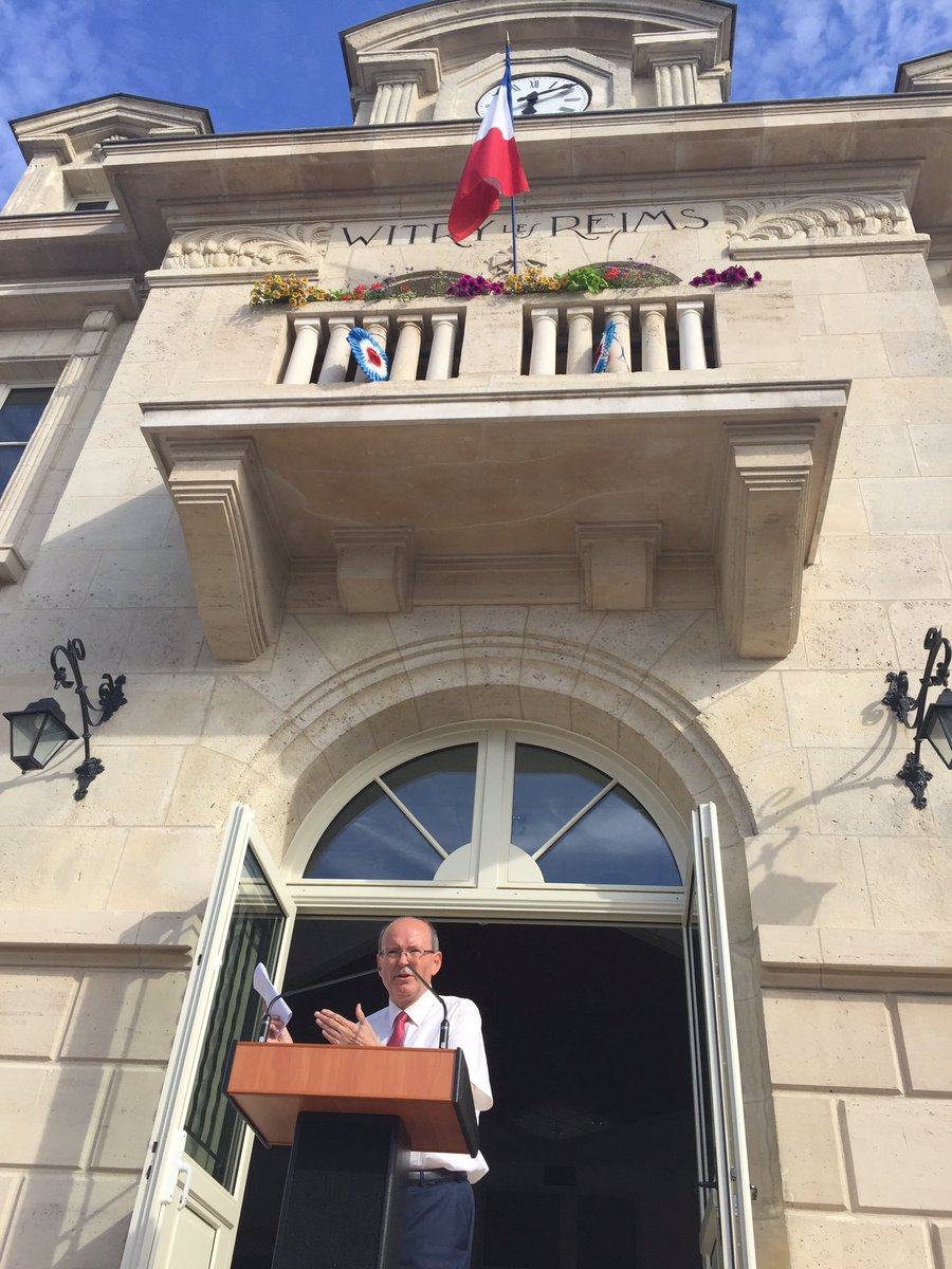 Inauguration place #mairie Witry-les-Reims @YvesDetraigne @valbeauvais @CaVautrin @Prefet51 @DptMarne<br>http://pic.twitter.com/tr6hmCm2R4