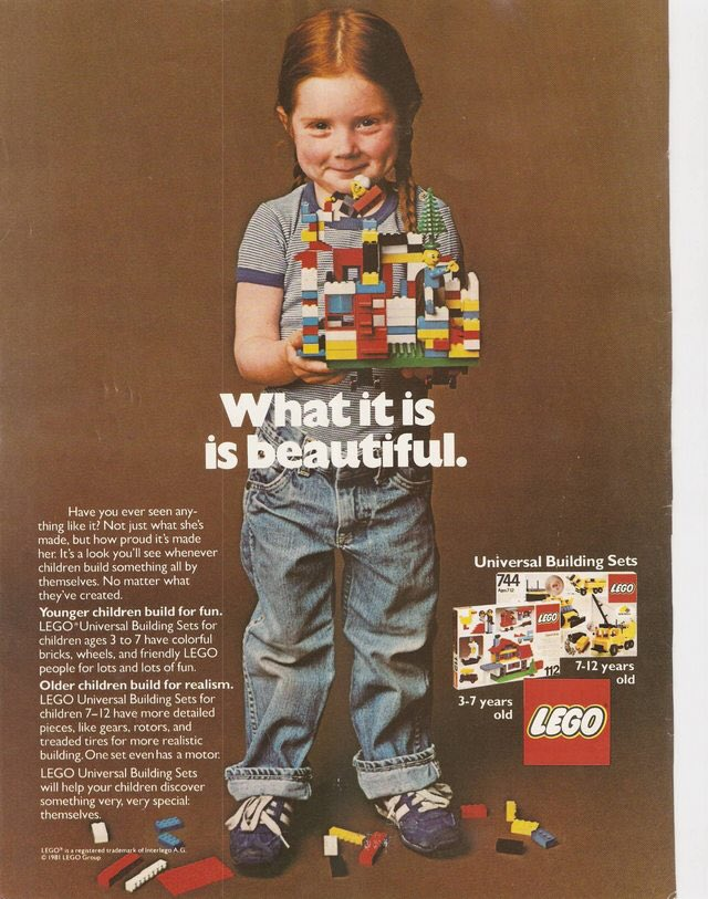 lego, 1981 & 2017. their ads have always been excellent. https://t.co/1hFm8HQ1rm