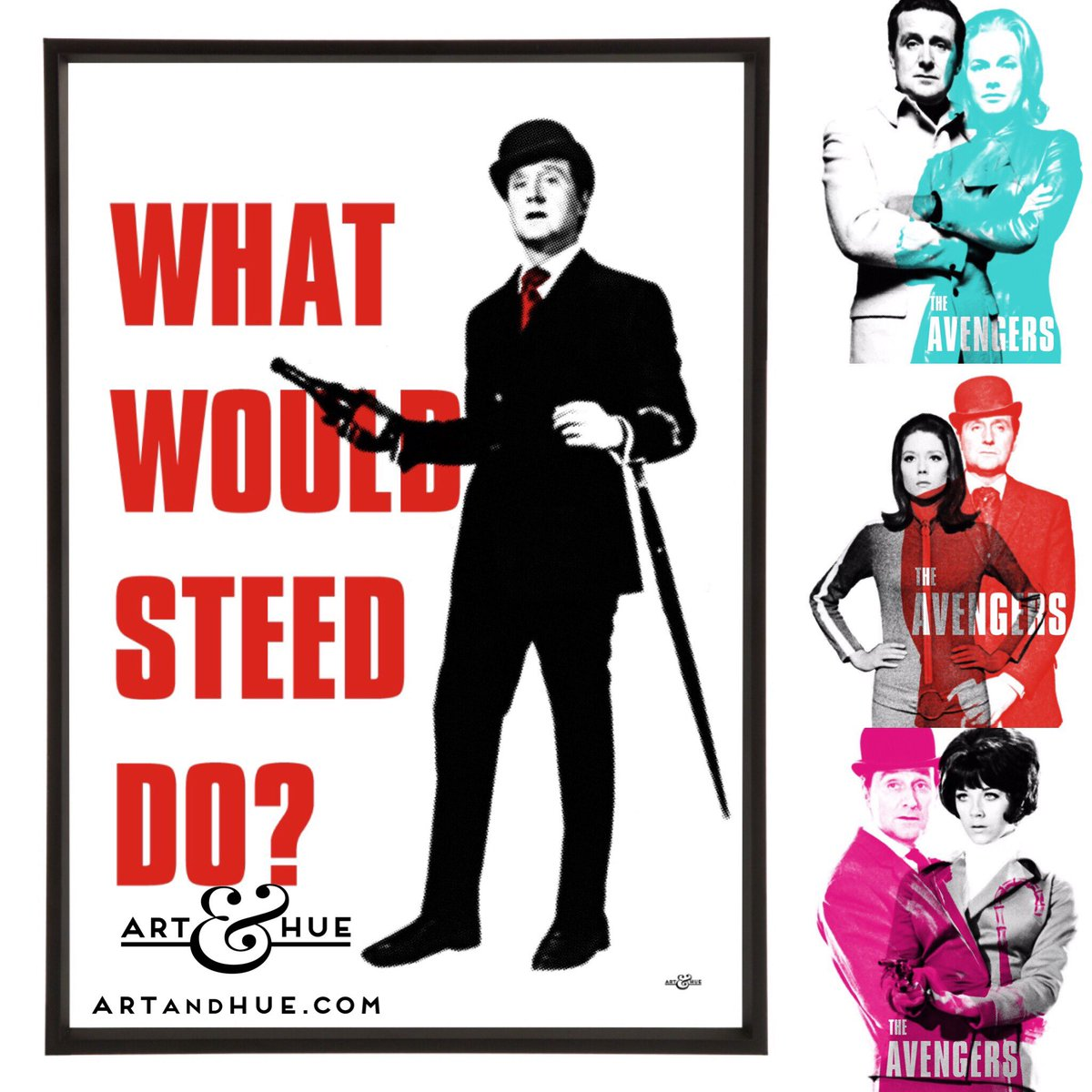 #WhatWould #JohnSteed Do? Open the #champagne  http:// artandhue.com/theavengers/  &nbsp;   #FridayNight #PatrickMacnee #PopArt #FridayFeeling #TheAvengers<br>http://pic.twitter.com/AAdLqP97CL