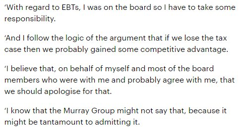 This is what Dave King said in 2012. Compare and contrast to today's remarks. https://t.co/ub4YTgZSmG